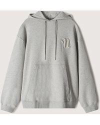 Nanushka Ever - Organic Cotton Logo Hoodie - Grey