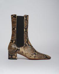 Nanushka Vika - Leather Boots - Snake - 36 - Multicolour