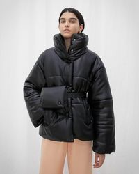 Nanushka Puffer Belt Bag - Black