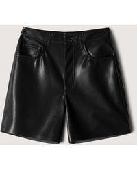 Nanushka Leana - Vegan Leather Shorts - Black