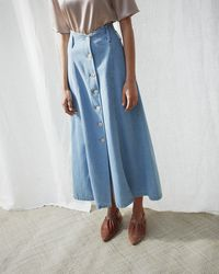 Nanushka A-line High Waist Skirt - Blue