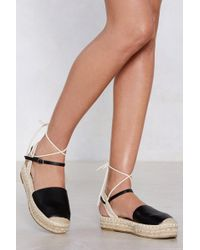 455df261c6d8 Nasty Gal Do It With Pride Platform Sandal in Black - Lyst