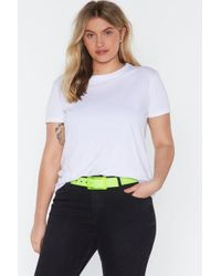 """Nasty Gal """"all Eyes Neon You Clear Buckle Belt"""" - Yellow"""