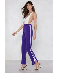 Nasty Gal - Stripe Next To You Track Pants - Lyst