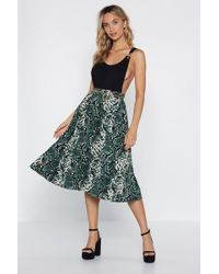 "Nasty Gal ""do You Fold Snake Skirt"" - Green"