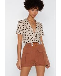 """Nasty Gal """"pocket In Utility Shorts"""" - Brown"""