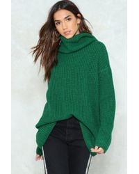 Nasty Gal | Knit's Now Or Never Turtleneck Sweater | Lyst
