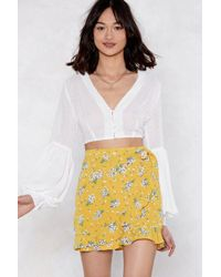 Nasty Gal - Bud Out Floral Skirt - Lyst