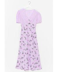 Nasty Gal Summer Breeze Floral Midi Dress - Purple