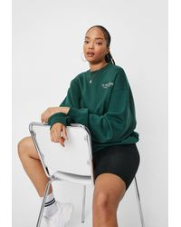 Nasty Gal Grande Taille - Sweat Oversize À Broderies The Great Indoors - Vert