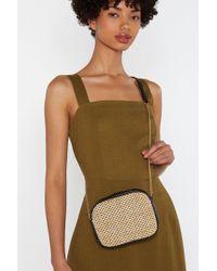 "Nasty Gal ""want Lay Down The Straw Boxy Crossbody Bag"" - Natural"
