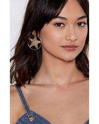 Nasty Gal - Star Power Hoop Earrings - Lyst