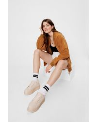 Nasty Gal Chunky Sole Platform Trainers - Natural