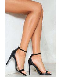 Nasty Gal Full Exposure Faux Leather Heel - Black