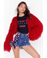 Nasty Gal Bad Romance Shaggy Jacket Bad Romance Shaggy Jacket - Red