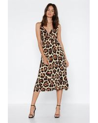 edcb4330e5e2 Nasty Gal On The Prowl Leopard Romper in Pink - Lyst