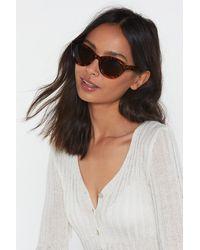 Nasty Gal So Shady Tortoiseshell Cat-eye Sunglasses - Brown