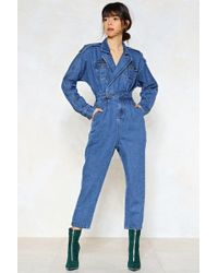 Nasty Gal | Blue Jean Baby Denim Jumpsuit | Lyst