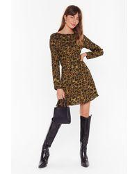 Nasty Gal - Like An Animal Relaxed Mini Dress - Lyst