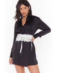 """Nasty Gal """"lace Around The Clock Lace Corset Belt"""" - White"""
