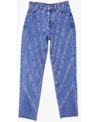 Nasty Gal Seams Rad To Us Straight-leg Jeans - Blue