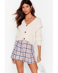 Nasty Gal Let's Get The Cheque High-waisted Tailored Shorts - Natural