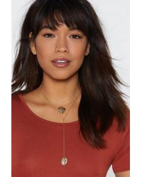 Nasty Gal - Heart Of Gold Medallion Necklace - Lyst