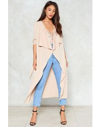 Nasty Gal - I Got This Duster Jacket - Lyst