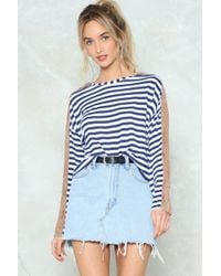 Nasty Gal - Point Of Difference Striped Sweater - Lyst