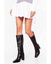 Nasty Gal High Hopes Heeled Knee High Boots - Black