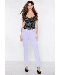 Nasty Gal - Close Shave Skinny Jeans - Lyst