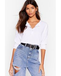 Nasty Gal - It's Poppin' Snap Closure Ribbed Top - Lyst