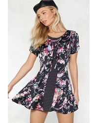 Nasty Gal - Dot To Grow Floral Dress - Lyst
