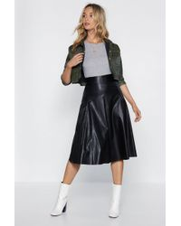 "Nasty Gal - ""no Midi Ground Faux Leather Skirt"" - Lyst"