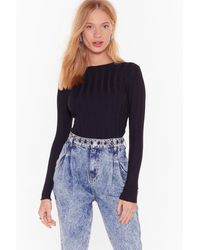 """Nasty Gal """"the Way Knit Is Ribbed Sweater"""" - Black"""