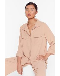 """Nasty Gal """"put Your Back Into It Utility Shirt"""" - Multicolour"""