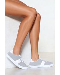 Nasty Gal | On The Block Striped Trainer | Lyst
