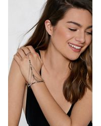Nasty Gal - You Got The Touch Harness Bracelet - Lyst