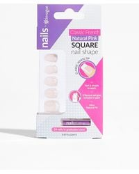 Nasty Gal Baby You're So Classic Square False Nails Set - Pink