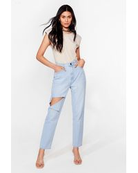 Nasty Gal Get In Their Shreds Distressed Jeans - Blue