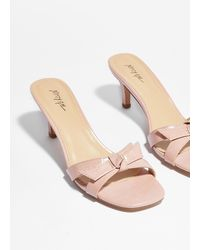 Nasty Gal They've Got Bow Chance Croc Heeled Mules - Pink