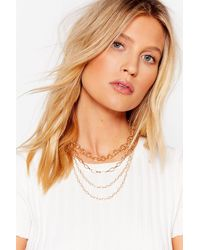 Nasty Gal - Chain-ge Of Plan Layered Necklace - Lyst