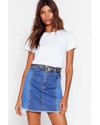 "Nasty Gal ""two-tone's The Charm Denim Mini Skirt"" - Blue"