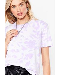 Nasty Gal T-Shirt À Slogan Effet Tie-Dye Va Te Faire Fuck - Violet