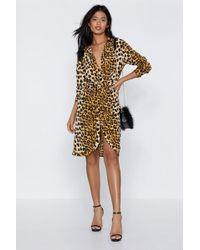 Nasty Gal Meow You re Talking Leopard Dress in Green - Lyst f56f0fd9e