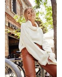 """Nasty Gal """"white Turtleneck And Oversized Sweater"""" - Multicolor"""