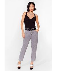 Nasty Gal It Don't Jean A Thing High-waisted Mom Jeans - Grey