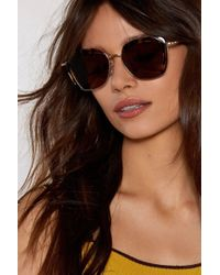 Nasty Gal - Shell Out Tortoiseshell Shades - Lyst
