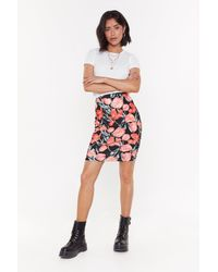 """Nasty Gal """"these Tulips Are Movin' Floral Mini Skirt"""" - Black"""