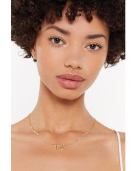 "Nasty Gal ""gold Fuck 'em Word Necklace"" - Metallic"